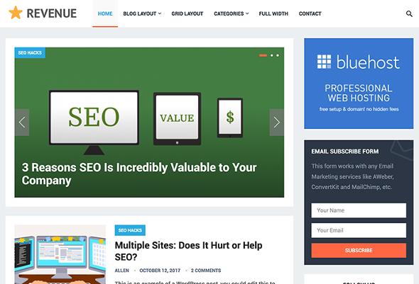 HappyThemes Revenue - Download Business Blog WordPress Theme