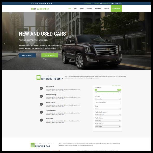 LT Carmarket Pro - Download Car Dealer WordPress Theme