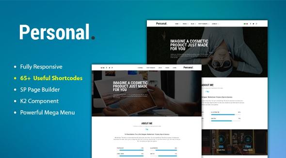SJ Personal - Download Responsive Multi-Purpose Personal Portfolio Joomla Template