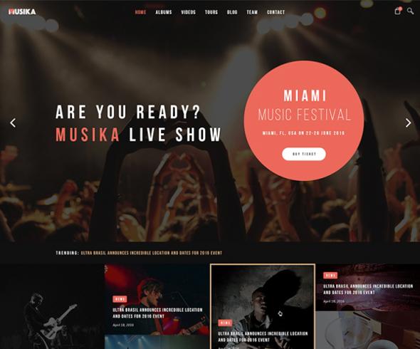 Templaza Musika - Download Music Band WordPress Theme