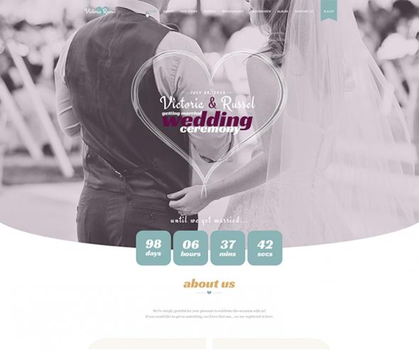 Templaza Wedding Fuchsia - Download Wedding WordPress Theme