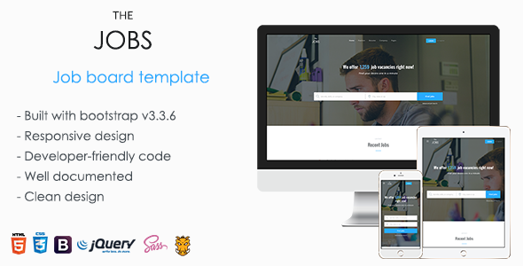 ThemeForest TheJobs - Download Job Board HTML Template