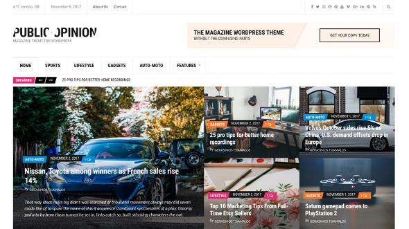 CssIgniter Public Opinion - Download Magazine Theme for WordPress