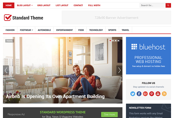 HappyThemes Standard - Download Responsive Blog WordPress Theme