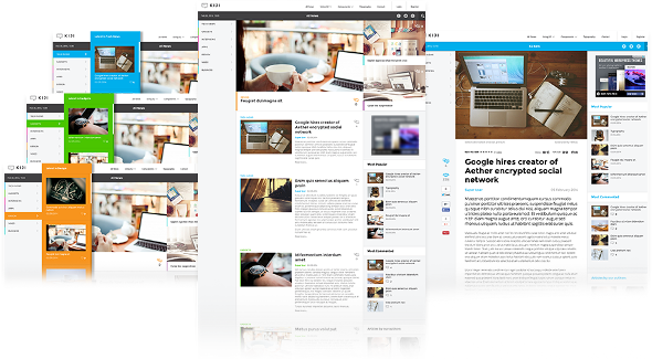 JoomlaWorks Kiji - Download News and Magazine Joomla Template