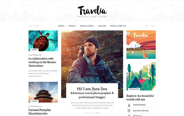 JoomShaper Travelia - Download Joomla Template for Travel Blogs and Tour Guides