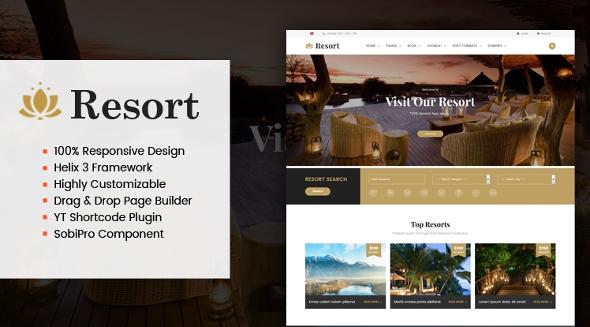 SJ Resort II - Download Premium Responsive Hotel & Resort Joomla Template