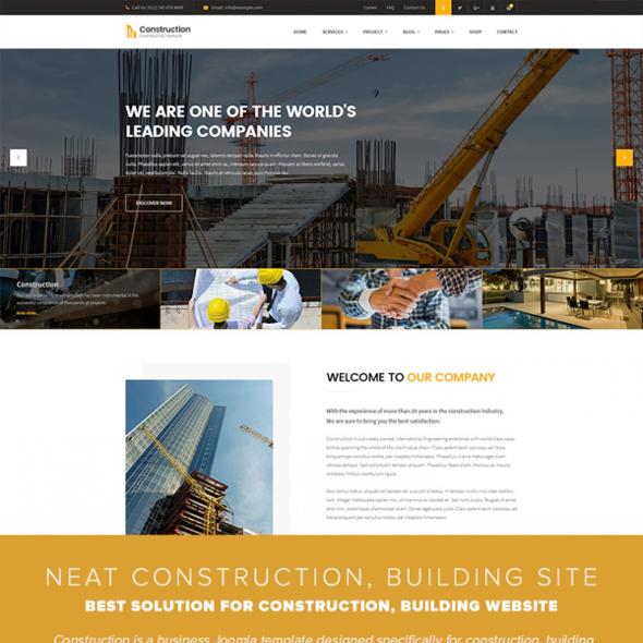 Templaza Construction - Download Building & Architect Joomla Template