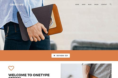 Theme-Junkie OneType - Download eCommerce WordPress Theme