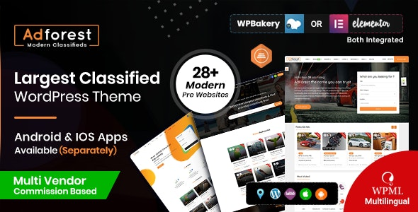 ThemeForest AdForest - Download Classified Ads WordPress Theme