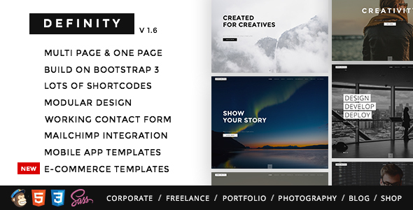 ThemeForest Definity - Download Multipurpose One/Multi Page HTML Template