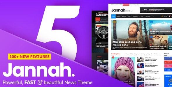 ThemeForest Jannah News - Download Newspaper Magazine News AMP BuddyPress WordPress Theme