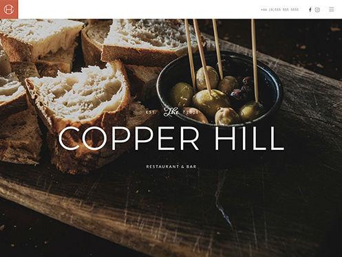 YooTheme Pro Copper Hill - Download Responsive Restaurant WordPress Theme