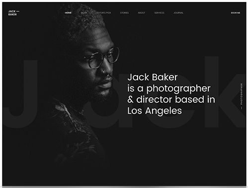 YooTheme Pro Jack Baker - Download Responsive Photography WordPress Theme