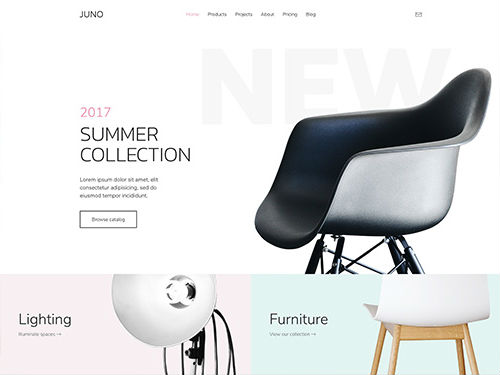 YooTheme Pro Juno - Download Furniture, Architecture Theme for WordPress