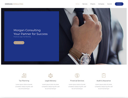 YooTheme Pro Morgan Consulting - Download Business Theme for WordPress