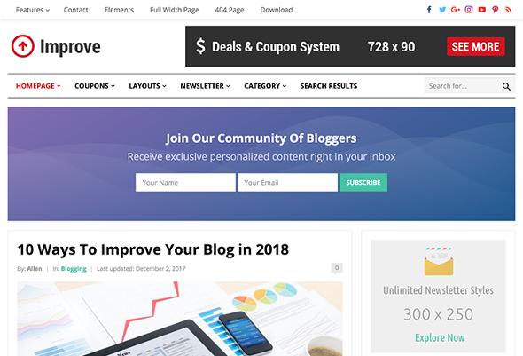 HappyThemes Improve - Download Responsive Blog Theme for WordPress