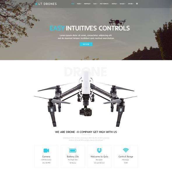 LT Drones Pro - Download Responsive Drones WordPress Theme