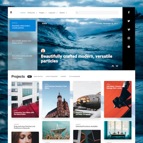 RocketTheme Fluent - Download Responsive Business Template for Joomla