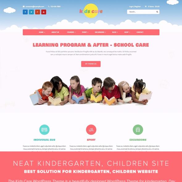 Templaza Kids Care - Download Kindergarten, Children WordPress Theme