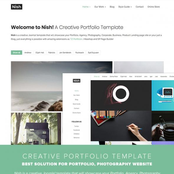 Templaza Nish - Download Creative Portfolio Joomla Template