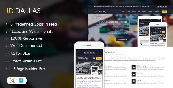 ThemeForest JD Dallas - Download Responsive Business Joomla Template