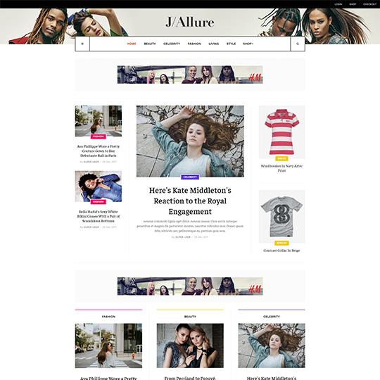 JA Allure - Download Beauty and Fashion Magazine Joomla Template