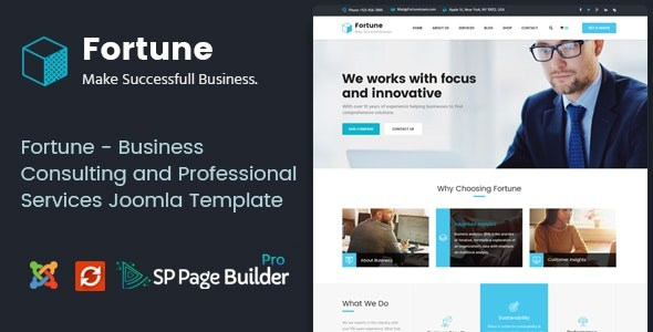 ThemeForest Fortune - Download Business Consulting and Professional Services Joomla Template