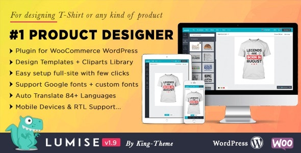 CodeCanyon Lumise Product Designer - Download WooCommerce WordPress Plugin