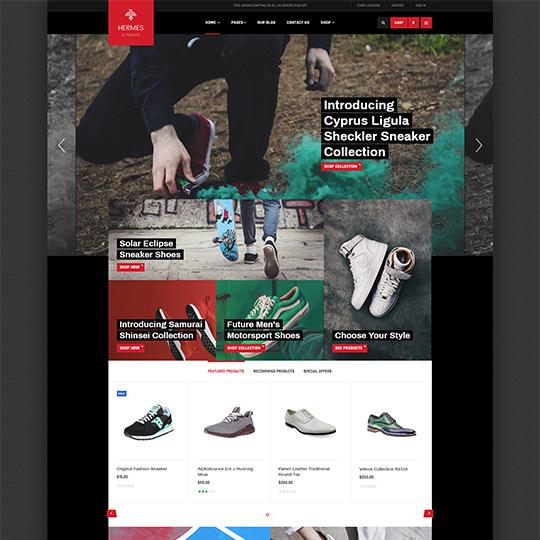 JA Shoe Store - Download Powerful eCommerce Joomla Template for Shoe Store Websites