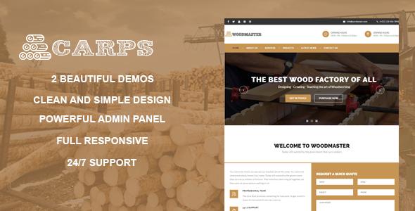 ThemeForest Carps - Download Wood Carpentry WordPress Theme