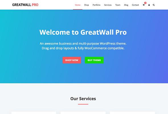 HappyThemes GreatWall - Download Responsive Multi-Purpose WordPress Theme