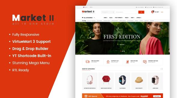 SJ Market II - Download Creative eCommerce Joomla Responsive Template