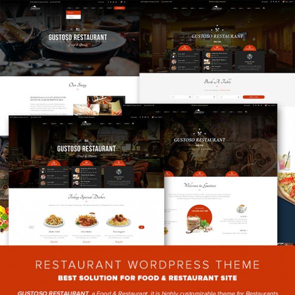 Templaza Gustoso - Download Restaurant WordPress Theme