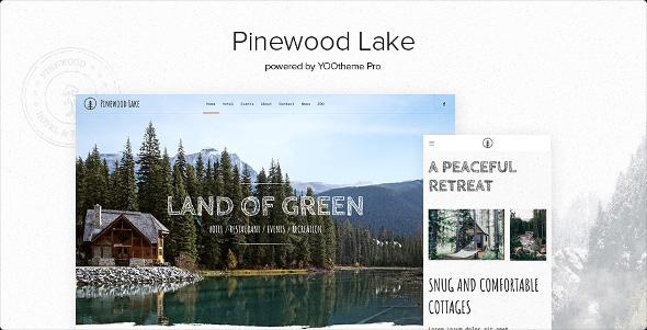 YooTheme Pro Pinewood Lake - Download Responsive Travel WordPress Theme