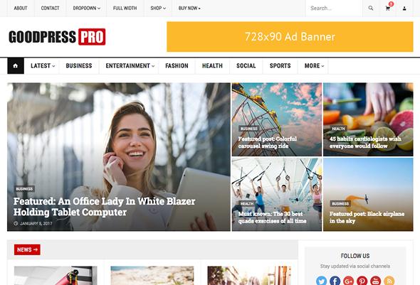 HappyThemes GoodPress - Download Responsive News and Magazine WordPress Theme