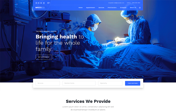 JoomShaper Medico - Download Joomla Template for Hospital, Medical Clinic and Healthcare Sites