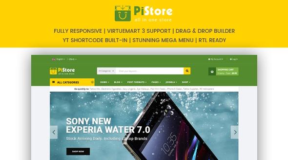 SJ PiStore - Download Modern Design eCommerce Joomla Responsive Template
