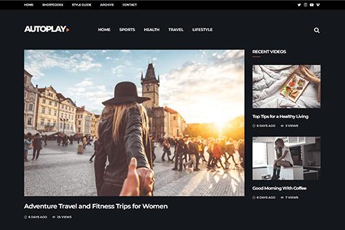 Theme-Junkie Autoplay - Download Video Magazine WordPress Theme