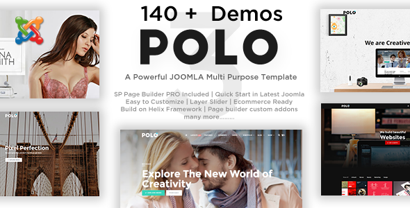 ThemeForest Polo - Download Responsive Multipurpose Drag and Drop Joomla Template