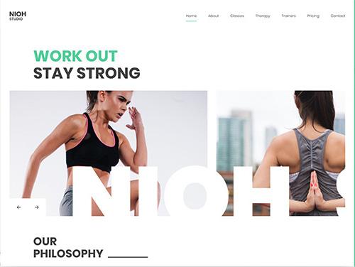 YooTheme Pro Nioh Studio - Download Gym Theme for WordPress