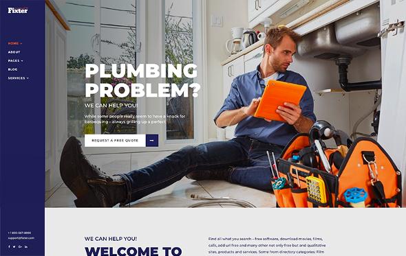 JoomShaper Fixter - Download Joomla Template for Home Maintenance and Handyman Service Websites