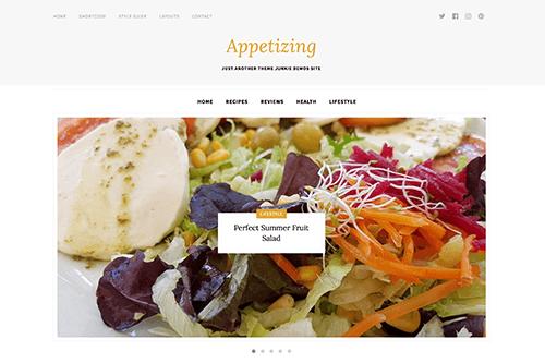 Theme-Junkie Appetizing - Download Food Blog Theme for WordPress