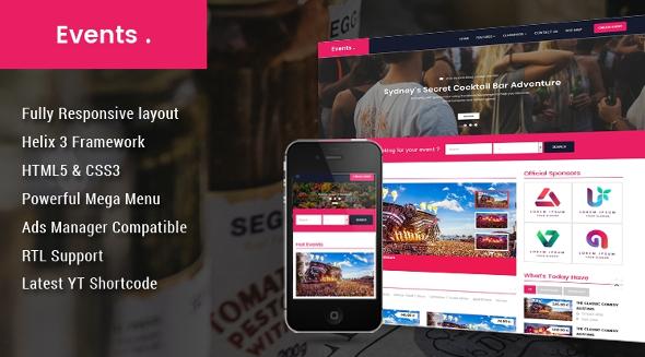 SJ Event - Download Elegant Ad Board, Classified Joomla Template