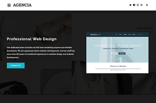 Theme-Junkie Agencia - Download WordPress Theme for Creative Agencies and Freelancers