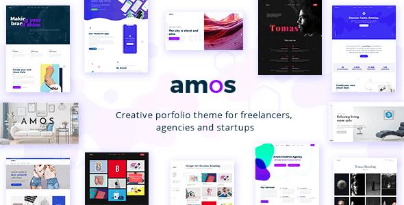 ThemeForest Amos - Download Creative WordPress Theme for Agencies & Freelancers