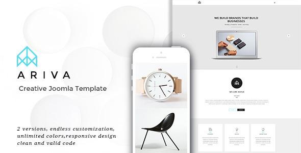 ThemeForest Ariva - Download Creative Responsive Parallax Joomla Template