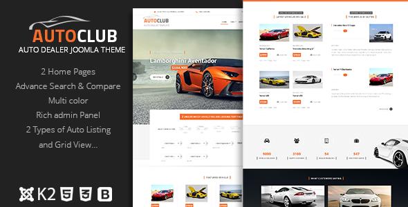 ThemeForest Auto Club - Download Responsive Car Dealer Joomla Template