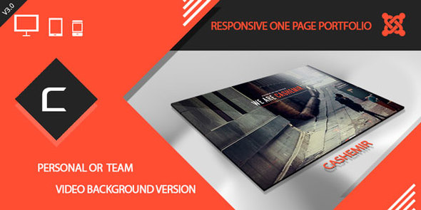 ThemeForest Cashemir - Download Responsive One Page Joomla Template