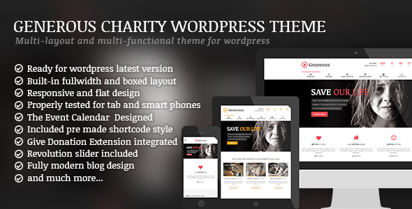 ThemeForest Generous - Download Charity / Non-Profit / Orphan / Fundraising / Crowdfunding Joomla Template